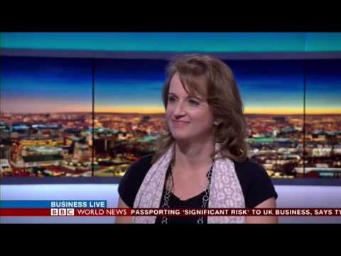 Women On Boards UK. Fiona Hathorn interview, BBC World News