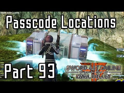 Sword Art Online Fatal Bullet Lost Gate Passcode Locations Part 93 Dlc3 Youtube