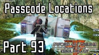 Sword Art Online: Fatal Bullet - Lost Gate Passcode Locations [Part 93/DLC3]