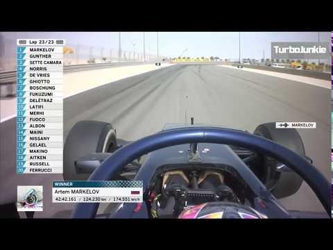 F2 2018 Bahrain GP Artem Markelov Winning Team Radio