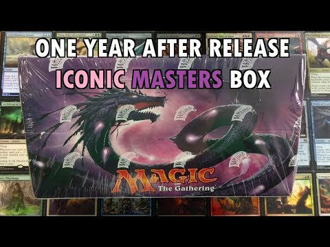 MTG Iconic Masters Booster Box Value 1 Year After Release