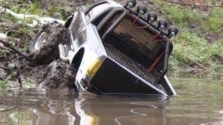Traxxas summit, Scale Ford 350 offroad Mud run,サミット、スケールフォードトラックのオフロード