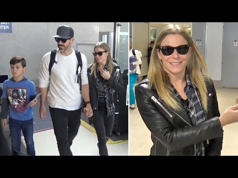 LeAnn Rimes Shows PDA With Eddie Cibrian Arriving Home From Concert In Utah