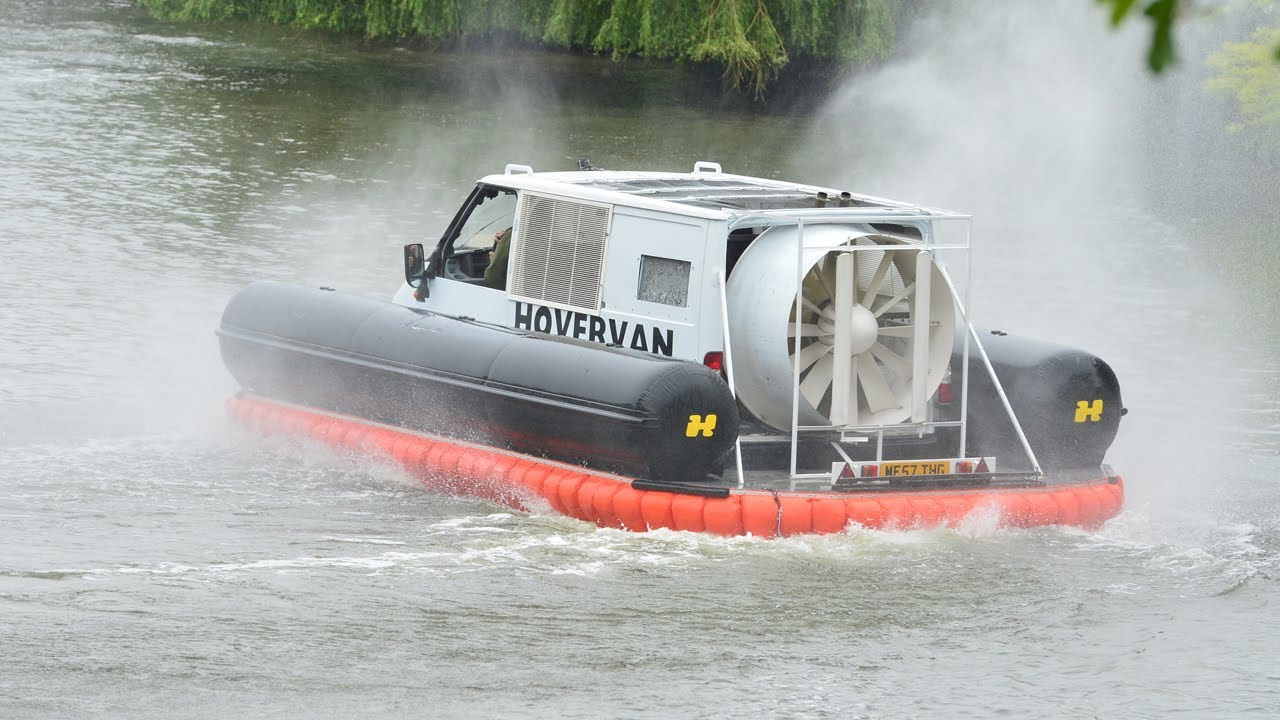 Top Gear S Hovercraft Down A Weir Action Replay Bbc