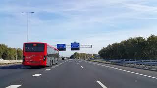Dashcam Beelden Utrecht: A27 Toerit Maarssen Aansluiting N230 --»Knooppunt Eemnes »A1 Afrit Naarden.