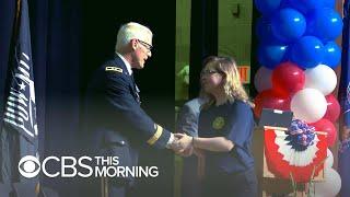 Communities celebrate high school grads who enlist