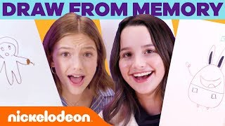 SpongeBob Draw from Memory Challenge! 🧠 w/ Annie, Hayley, Jayden & Armani | Nick