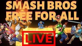 #LIVE Chipz-N-Stix | Super Smash Bros Ultimate | Free For All & Team Battles