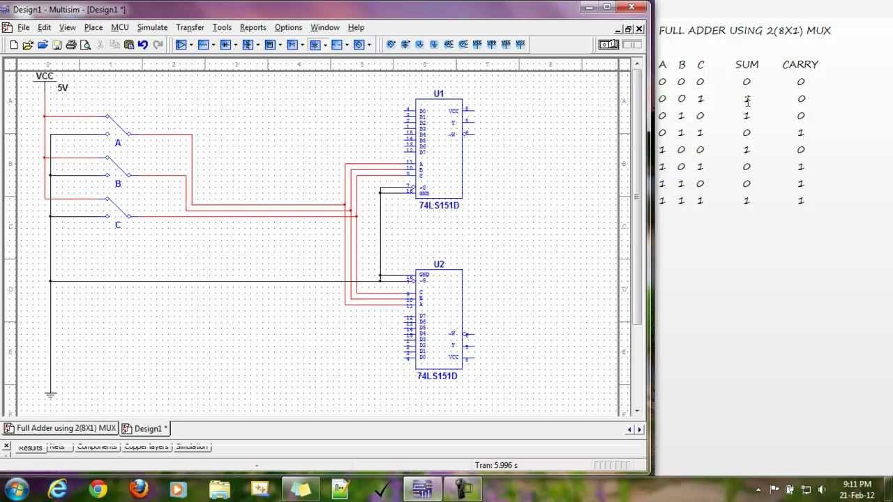 1 Bit Full Adder Schematic Ripple Carry 8 Alu Imgur Circuit