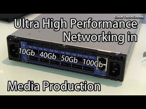 Ultra High Performance Networking in Media Production