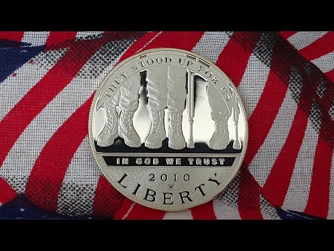 American Veterans Disabled For Life Proof Silver Coin