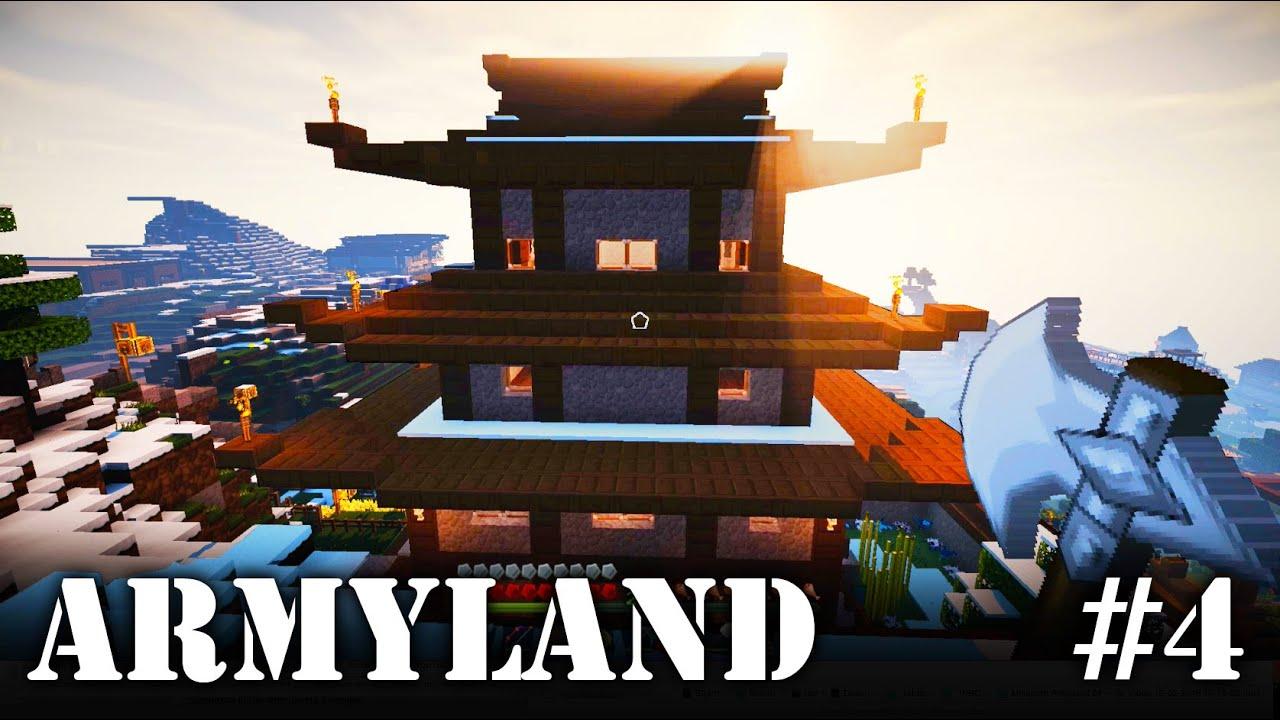 Minecraft Armyland Fabs Japanische Burg YouTube - Minecraft japanische hauser bauen