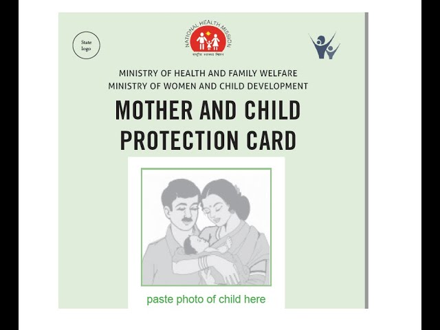 Pediatrics Mother Child Protection Card MCP Pregnancy Visit Registered  India English Road Health - YouTube