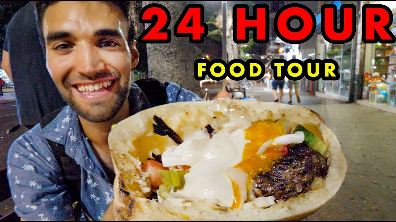 Download STREET FOOD in TEL AVIV!!! Ultimate 24-HOUR FOOD TOUR of MIDDLE EASTERN FOOD!