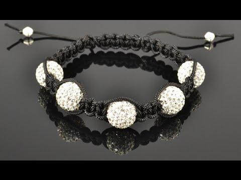 How To Make A Shamballa Style Bracelet Doovi