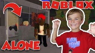 CAN YOU SURVIVE ZOMBIE APOCALYPSE in ROBLOX?! (ROBLOX ALONE)