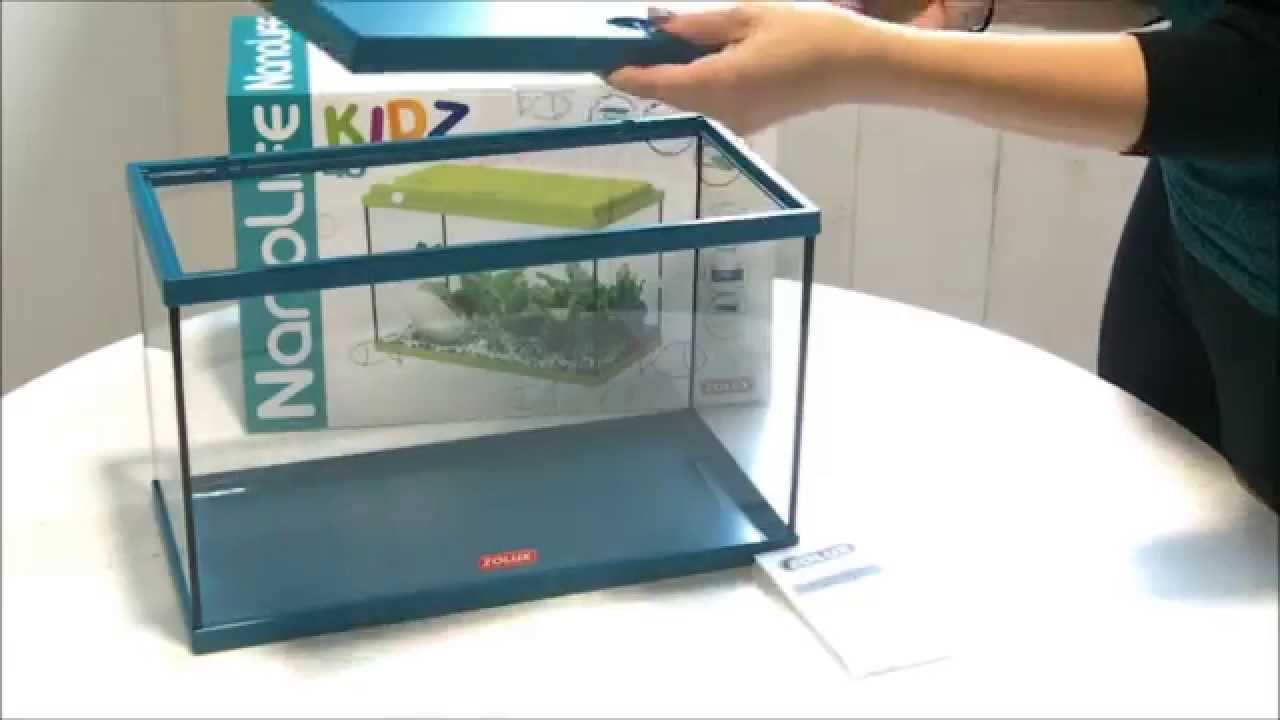 Aquarium nanolife kidz de zolux youtube for Aquarium zolux