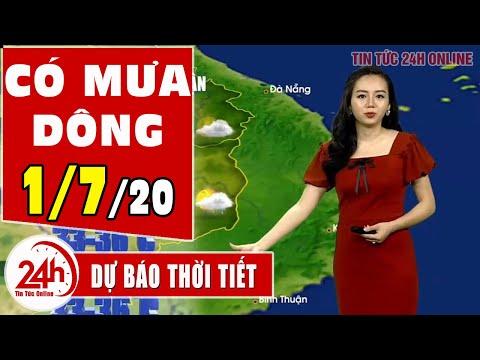 Dự báo thời tiết ngày 1 tháng 7 năm 2020 | Dự báo thời tiết ngày mai và 3 ngày tới mới nhất | TT24h