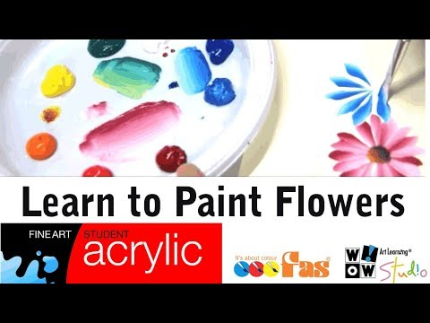 How to Paint Flowers  with FAS Student Acrylic Paint