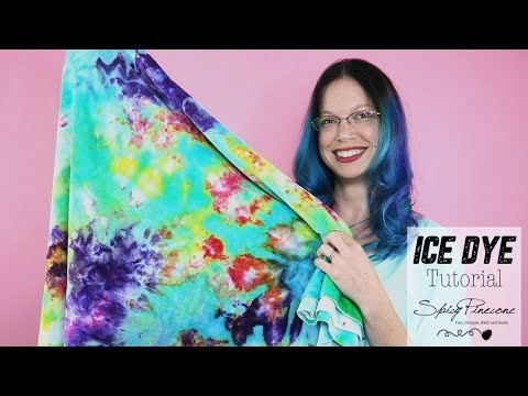 Ice Dye Tutorial - How to Ice Dye by Spicy Pinecone