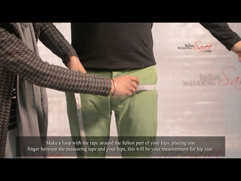 How to measure hips size for men's wear   Tutorial by Indian Wedding Saree