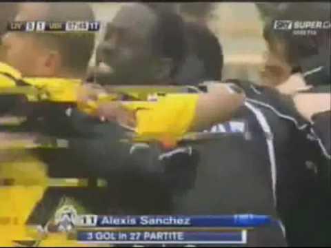 gol alexis sanchez udinese vs livorno 11/04/10