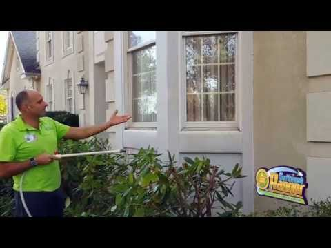 PROSESSIONAL STUCCO CLEANING DEMONSTRATION