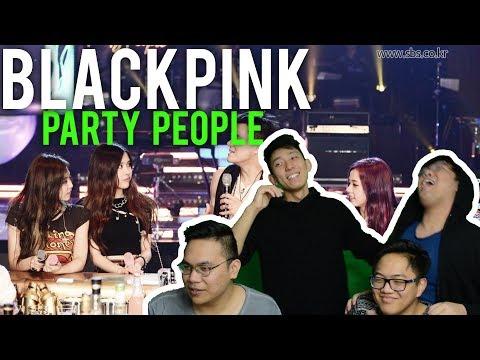 BLACKPINK on JYP's PARTY PEOPLE Reactions (Reupload CHECK DESCRIPTION)