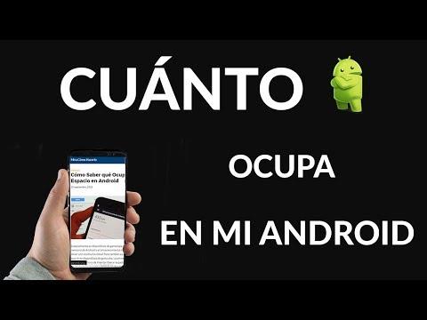 Cómo Saber qué Ocupa Tanto Espacio en Android