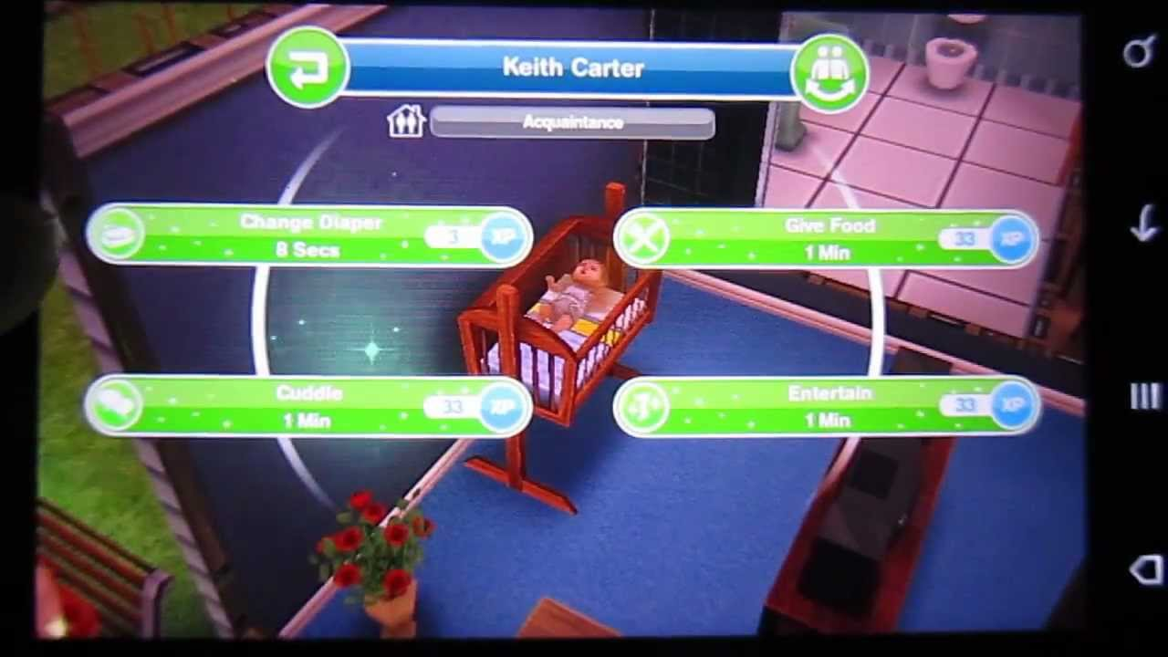 How To Actually Have A Baby In The Sims Freeplay Android Htc Desire S Hd Youtube