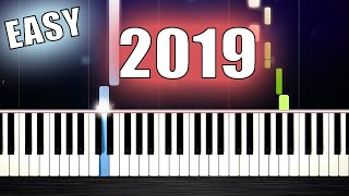 TOP 5 SONGS IN 2019 - EASY Piano Tutorials by PlutaX