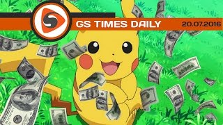 GS Times [DAILY]. Pokemon Go: Nintendo стала дороже Sony