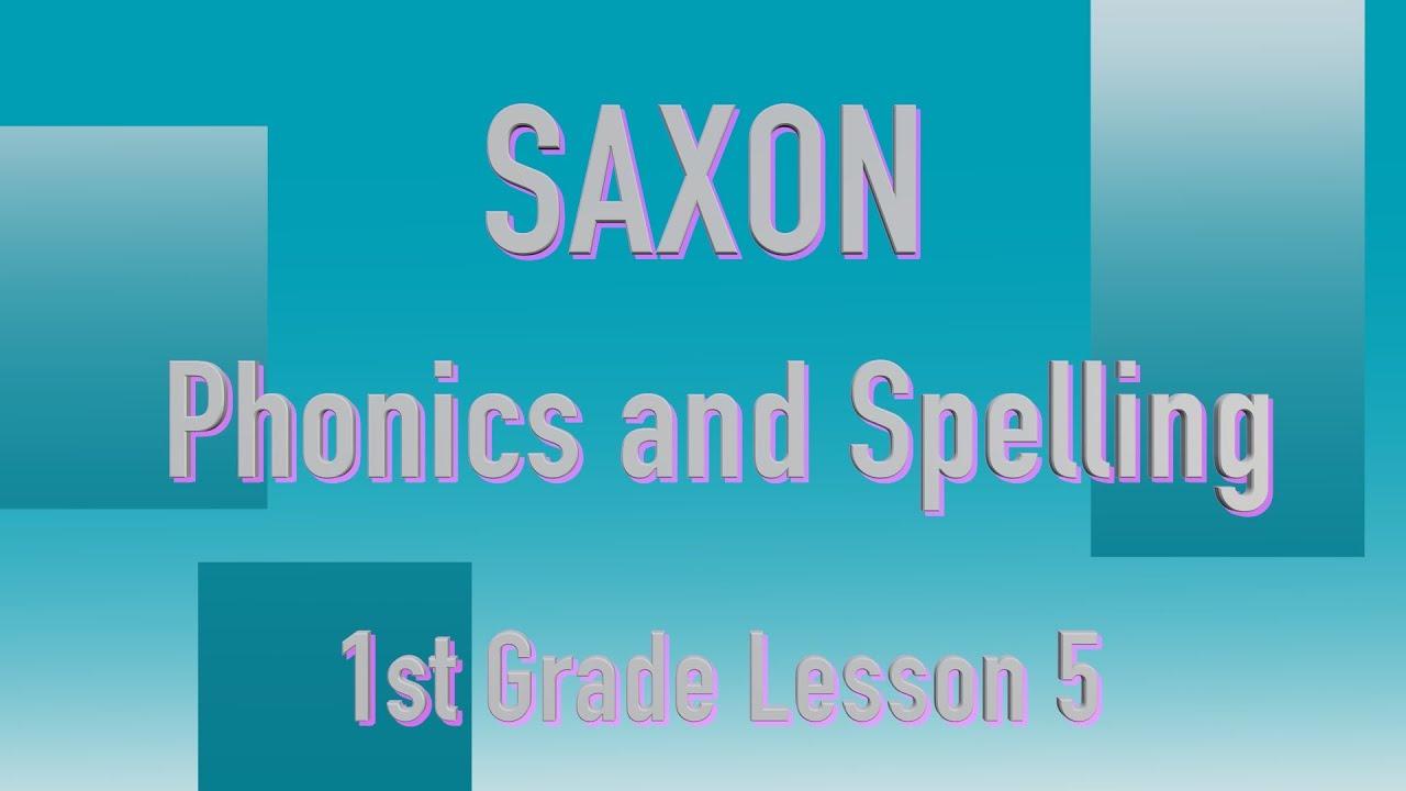 Saxon Phonics and Spelling Grade 1 Lesson 5 YouTube – Saxon Phonics Worksheets