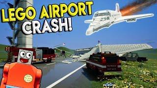 LEGO JET CRASHES INTO LEGO CITY AIRPORT! - Brick Rigs Gameplay Creations Challenge - Lego Toy Crash