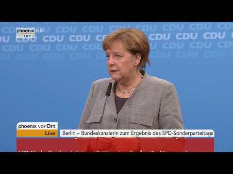 Statement von von Angela Merkel zur Aufnahme von Koalitionsverhandlungen vom 21.01.2018