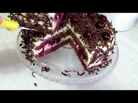 Торт ЧЁРНЫЙ ЛЕС Восхитительный Вкус Вишни в Шоколаде! Торт Праздник! Шварцвальд Торт.
