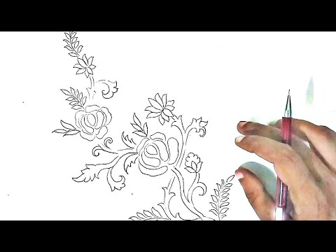 Free Hand Drawing Flowers Flower Design Drawing Pencil Drawing Images Flowers Youtube