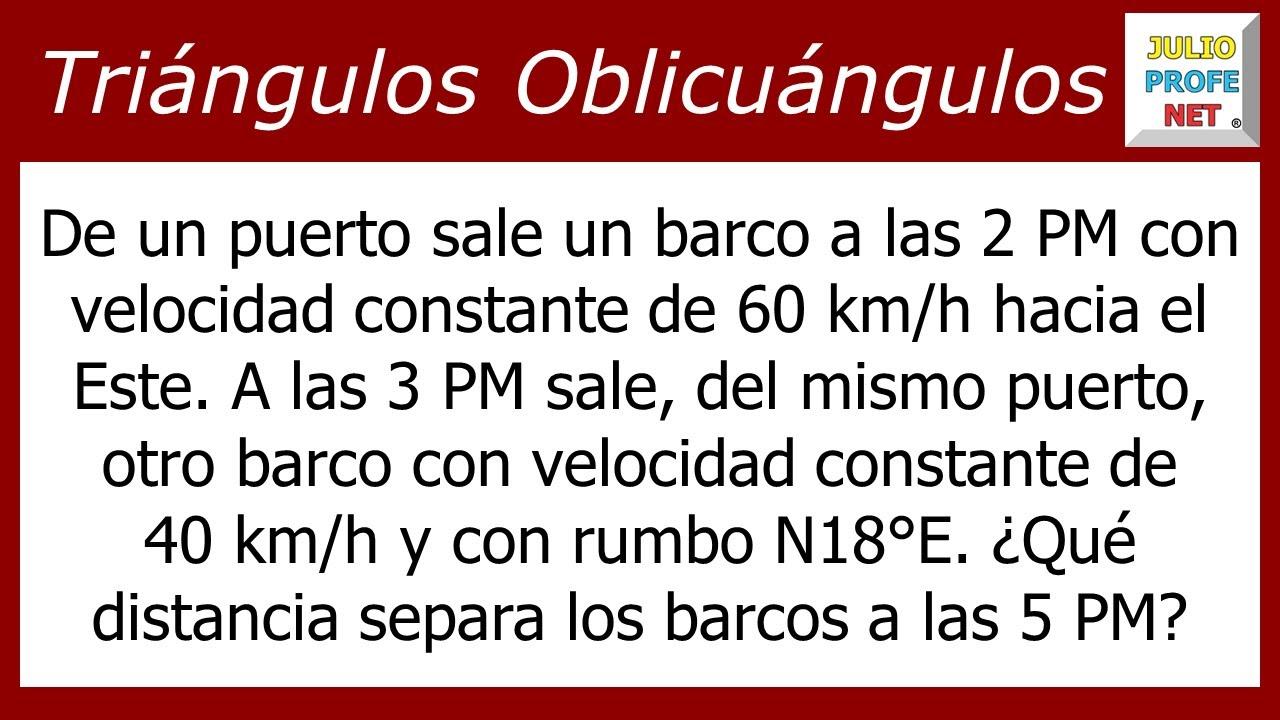 LEY DE COSENOS - Problema 2