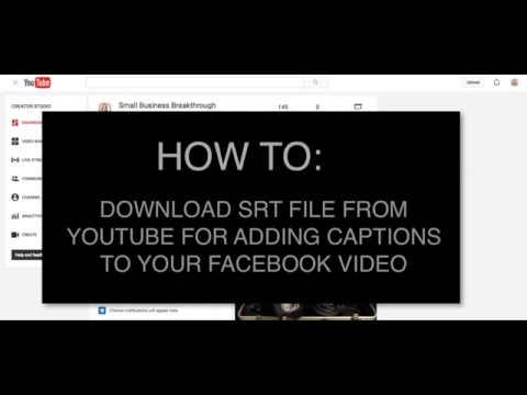 How To Download SRT File From Youtube