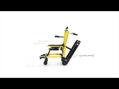 Motorized Stair Chair by YTR - How To Use It - Electric Wheelchair for Stairs - Wireless Stair Lift