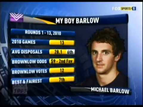 Foxtel - AFL Teams. Brian Taylor; my boy Barlow. Thursday 9th June 2011.