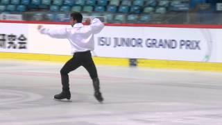 ISU 2014 Jr Grand Prix Zagreb Men Free Skate Armen AGAIAN GEO