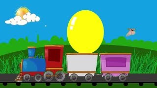 Learn Colors For Children with Baby Toy Train and Color Balloos | #Rans_Kids_Tv