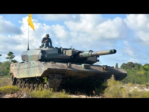 Indonesian Main Battle Tank Leopard 2RI In Action