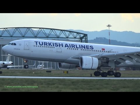 Turkish Airlines A332 comes to G.Marconi Int. Bologna BLQ