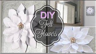 SPRING DIY FLORAL CHALLENGE// DIY CANVAS FELT FLOWERS