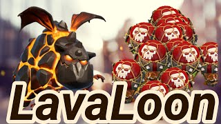 Overkill Max LavaLoon Balloon Lava Hound 3 Star War Attack TH12 Clash Of Clans CoC 2018