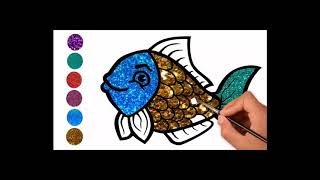 tiki tv | 7 Animal Coloring Page Learn to Draw for Kids