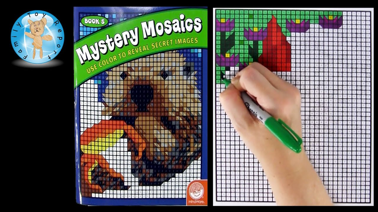 Mindware Mystery Mosaics Book Number 5 Coloring Book Review - Family ...