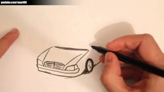 How to draw a limousine